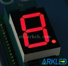 0.28 inch High Brightness red color 7 segment one digit led numeric display