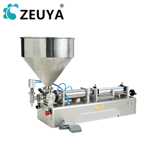 2019 new design two filling <strong>nozzles</strong> 250-2500ml automatic <strong>fruit</strong> can filling machine with ce