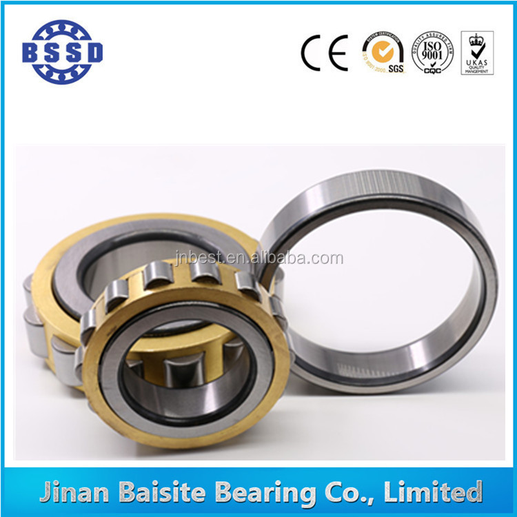 High Precision Rolling Mill Cylindrical Roller Bearing N / NU / NJ / NF / NUP Brass Cage