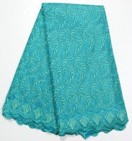 Turquoise green african lace fabric /big lace types of laces for garments