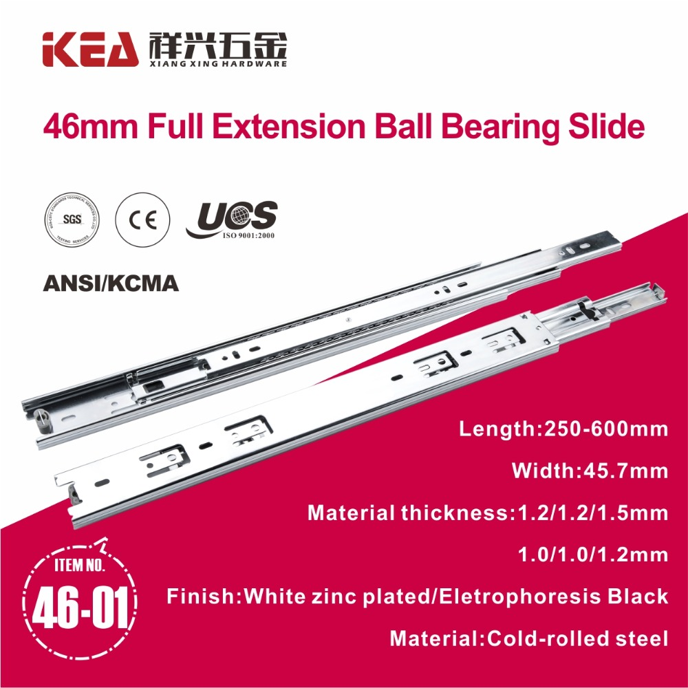46-01 Heavy Duty Draw Slides Ball Bearing Slide