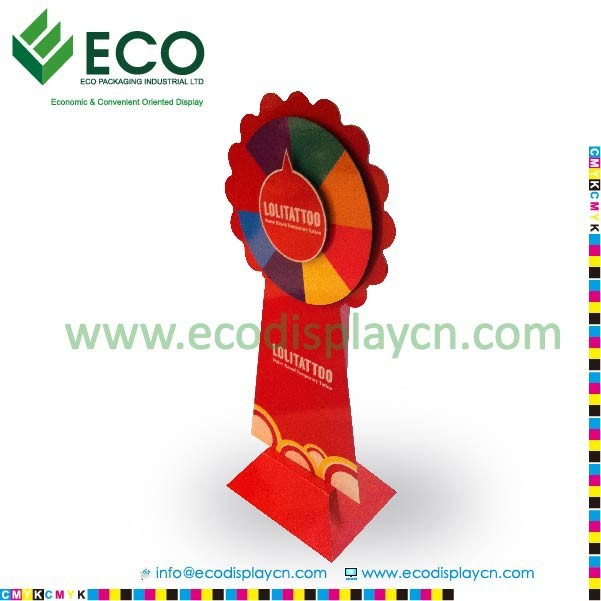 cardboard display Promotional advertising standee for tattoo