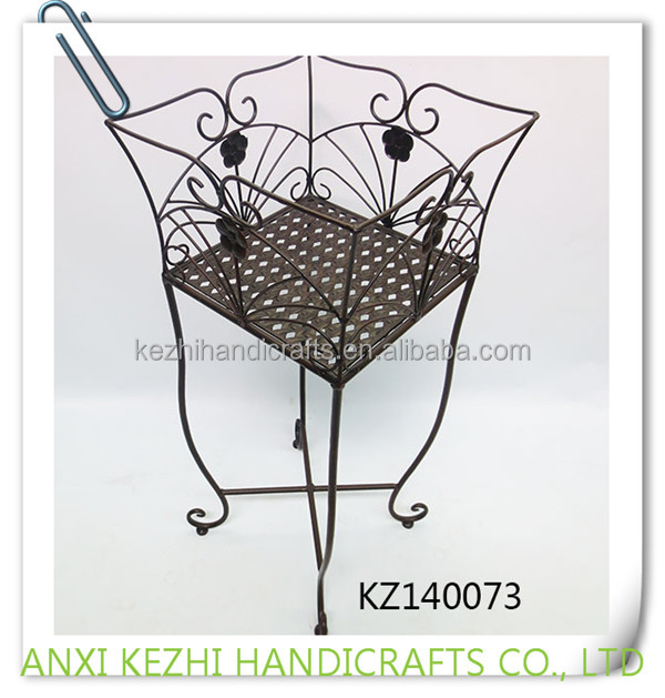 KZ140073 wrought iron outdoor garden metal iron flower pot stand
