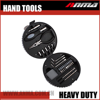 High Quality General Household 25 Pcs Portable Tire Shape Hand Tools Set