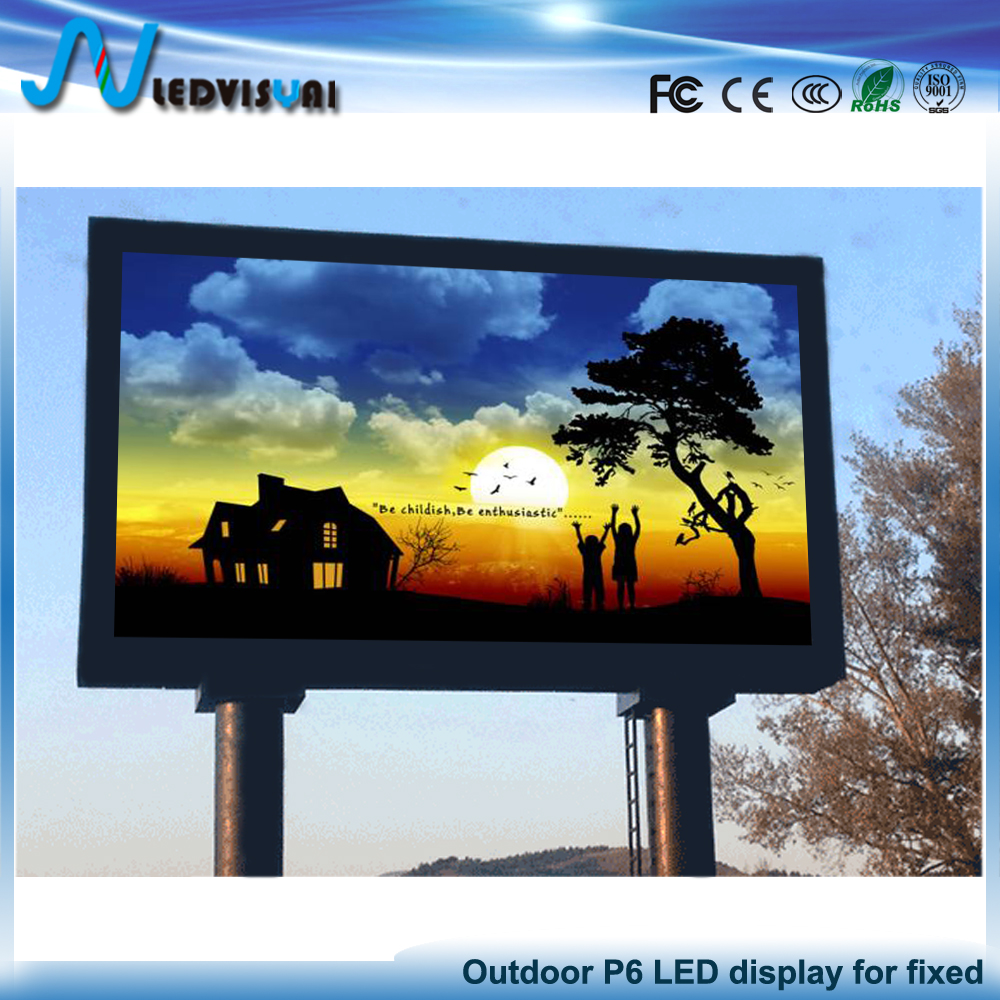On sale P6 outdoor commerical advertising led display full color hd video panel