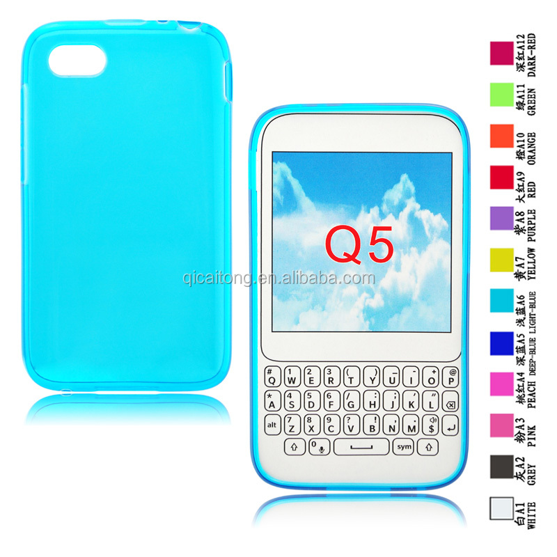 Soft Clear Transparent Tpu Case For BlackBerry Q5