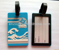 luggage tags bag tags with name card handle, blank soft PVC bag tag