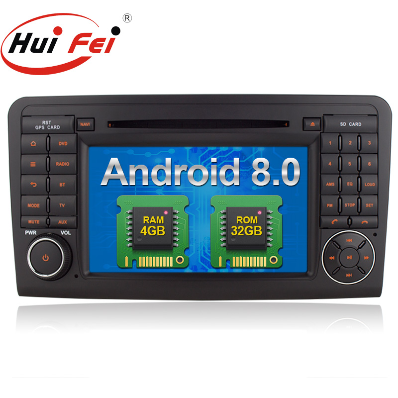 <strong>Android</strong> 8.0 car radio navigation for Mercedes Benz ML <strong>W164</strong> GL X164 Class with 4GB RAM 32GB ROM Rockchip PX5 8-Cores 7511H
