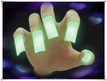 2016 hot sell all festival promotion and decoration items assorted colors glow nails for fun