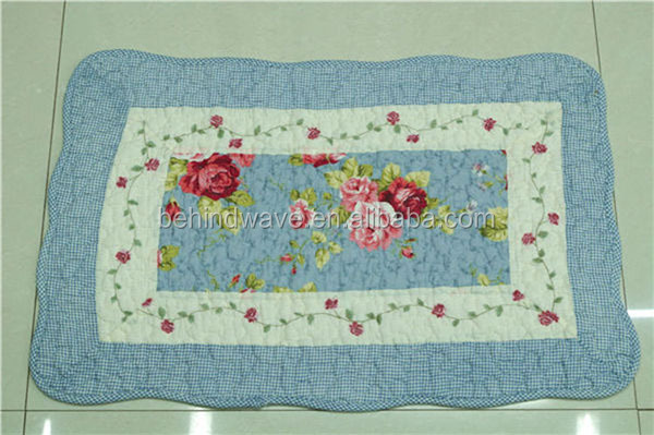 Cotton Printed Floral Custom Size Bath Rugs