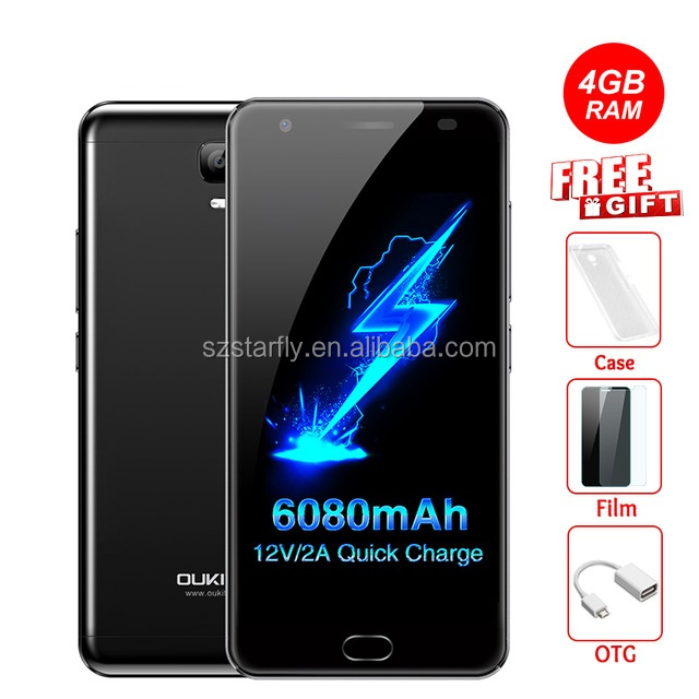 "Oukitel K6000 Plus 4G Mobile Phone 5.5"" FHD MTK6750T Octa Core Android 7.0 4GB/64GB 6080mAh Quick Charge Fingerprint 4g phone"