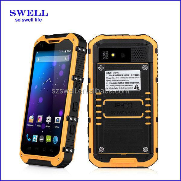 Factory 4.3 inch mini tough phone with Android 4.4.2 IP67 Rugged Smartphones nxp nfc 544