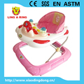 2017 NEW PLASTIC BIG BASE BABY WALKER WITH MUSIC AND LIGHT FOR EUROPEAN MARKET