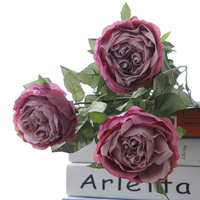 New design artificial flowers rose stem for wedding bouquet