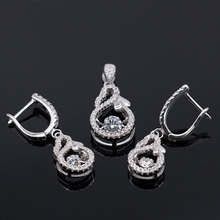 factory wholesale 925 Silver charm jewelry Sets cz cheap jewellery gift sets