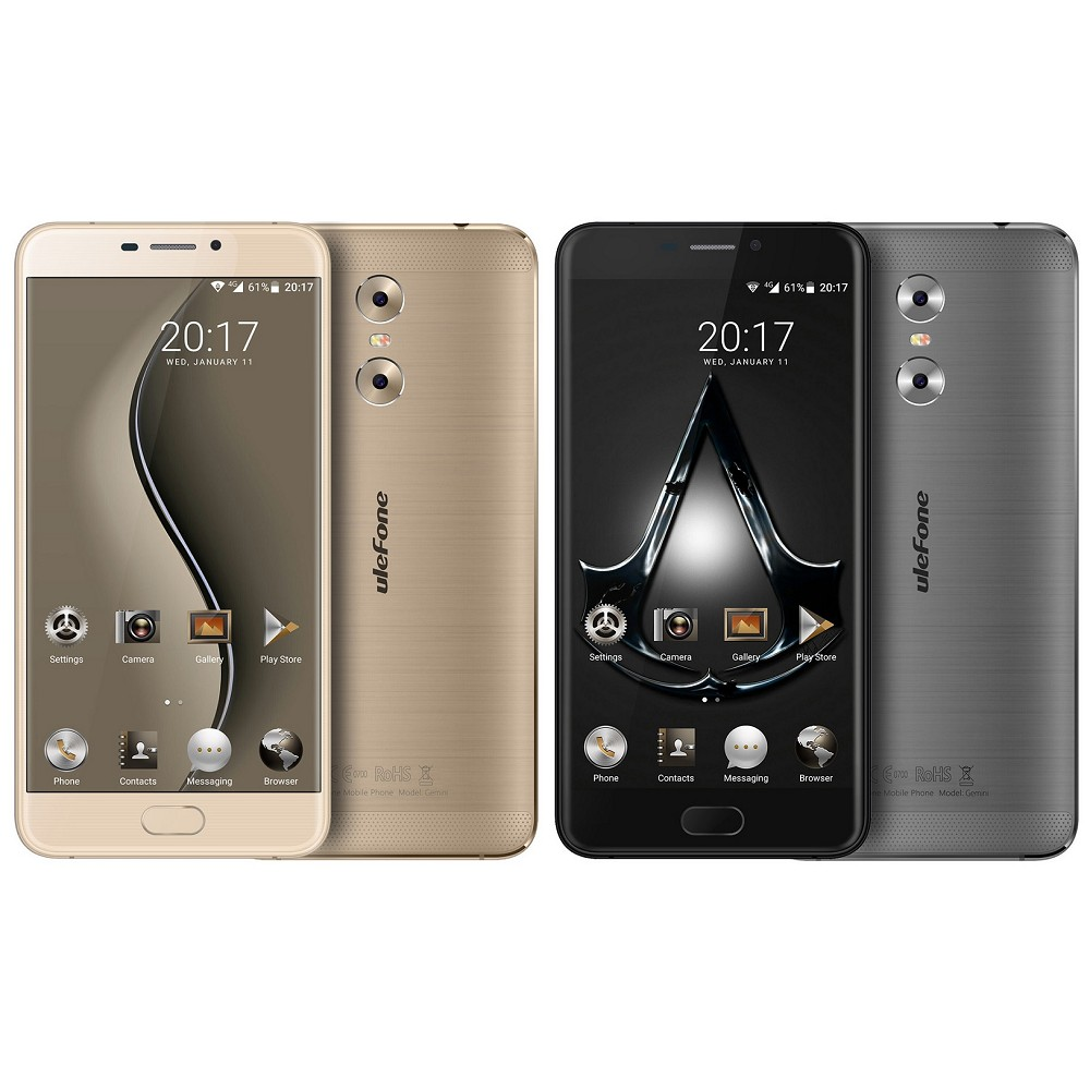 Latest Product Of China Ulefone Gemini E72 Dual SIM Mobile Smart Phone Metal Body Fingerprint 13MP Dual Camera