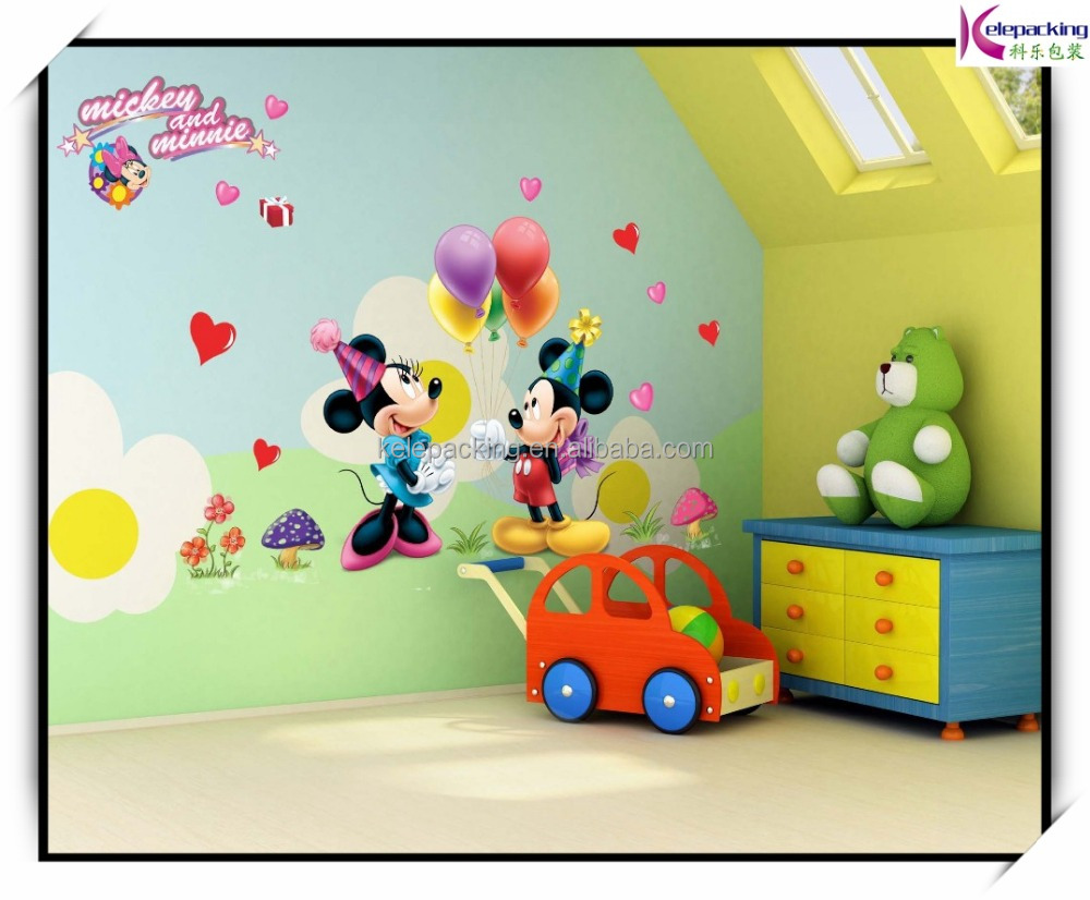 cartoon 3D kids mouse home decor wall stickers for kids room AY Baby Nursey Wall Decals