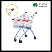 europe style trolley with two or three basket easy shopping cart plastic handle meet with your christmas supermarket shopping
