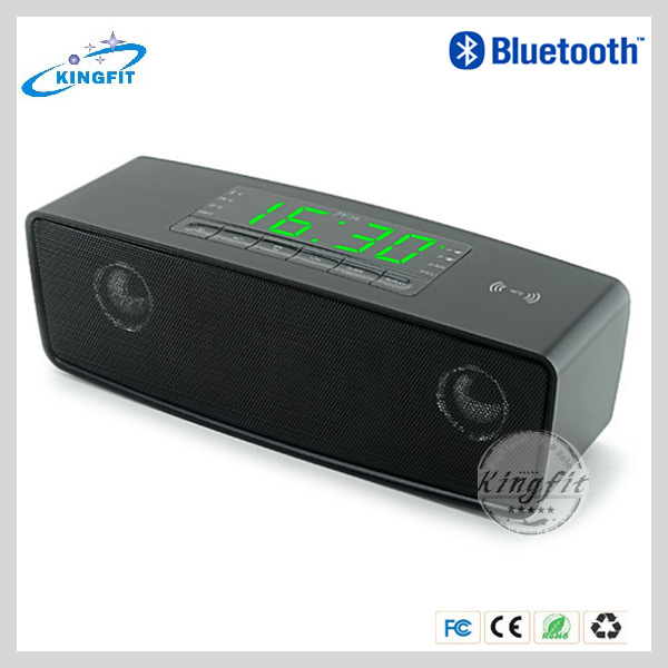 Hot APP Control Digital Bluetooth Mini Speaker With Clock Alarm