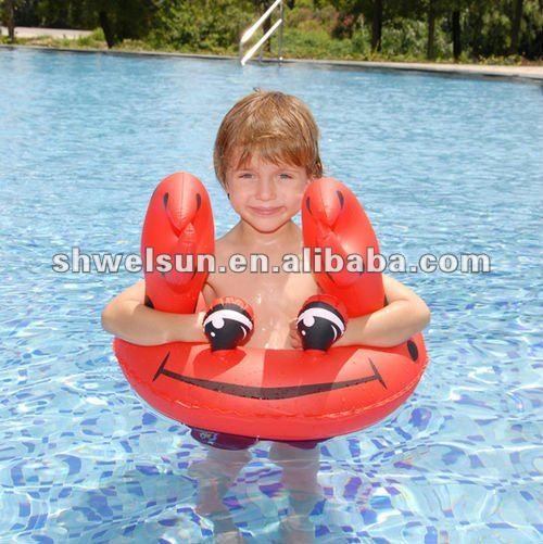 Inflatable crab children swimming ring