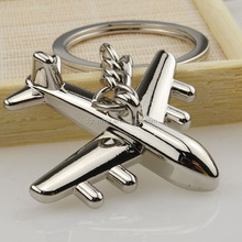 Valentine gift for him High quality metal plane model keychain