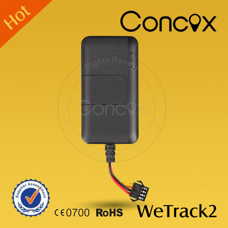 China Top 1 GPS Tracker Concox Wetrack2 Waterproof GPS Tracking in Car with Remote Engine Cut Off Function