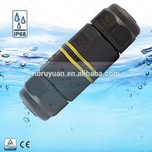 V110108 3-pole mini waterproof terminal outdoor cable screw circular electric connector 2pins ip68