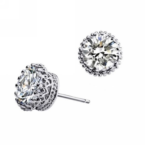 Fashion Luxury Zircon Unisex Stud Earring Wholesale