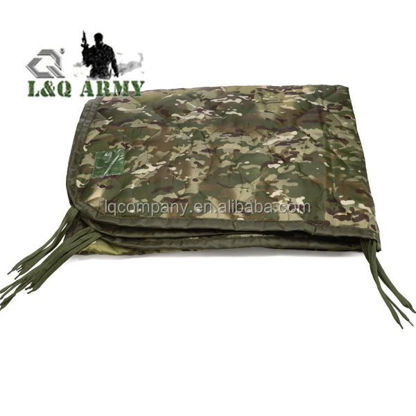 Camo Poncho Liner Military Blanket Sleeping Bag