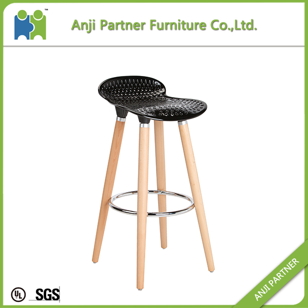 Low price modern comfortable plastic seat bar stool bar chair dimensions(Barry)