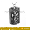 Znic Alloy Punk Cross Pendant Necklace