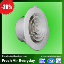 high quality ceiling round plastic air duct grill