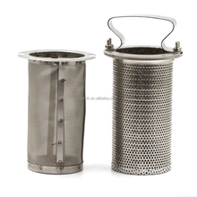 Basket type filter oil strainer and stainless steel material medium