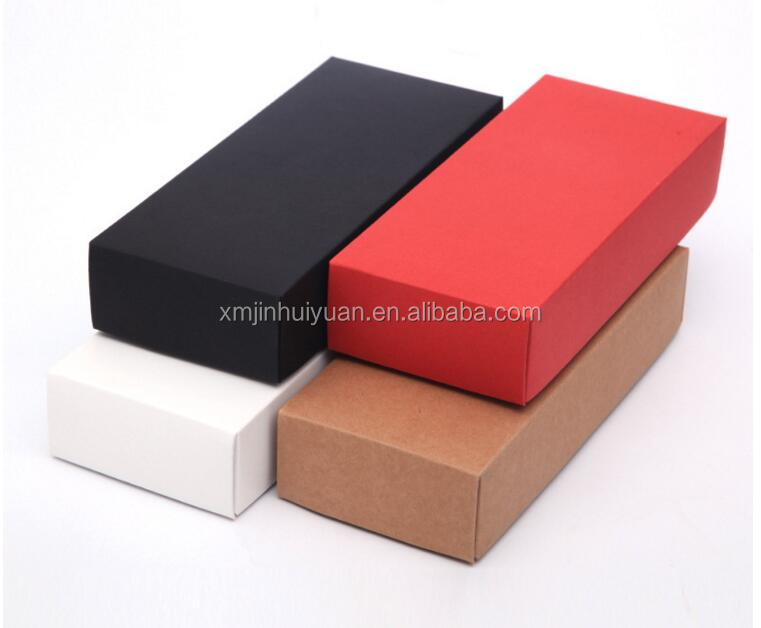 Kraft Paper Black Red White <strong>box</strong> Socks Underware Towel Gift Foldable Paper Packaging <strong>Box</strong>