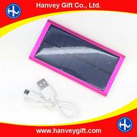 Ultra slim rechargeable panel power bank with top high quality 2600mah solar power bank, power bank