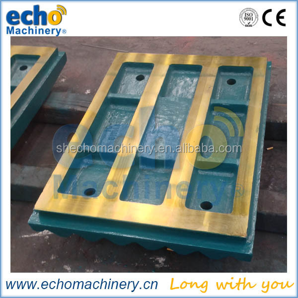 high manganese steel casting jaw crusher spare parts jaw plate for Metso,Terex Pegson,Extec,Trio etc