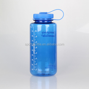 Summer hot sale outdoor sports big size 1L 1000ml TRITAN BPA-free plastic wild mouth drink water bottle with rubber strap handle