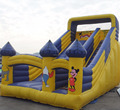 yellow inflatable slide/cartoon inflatable slide for sale