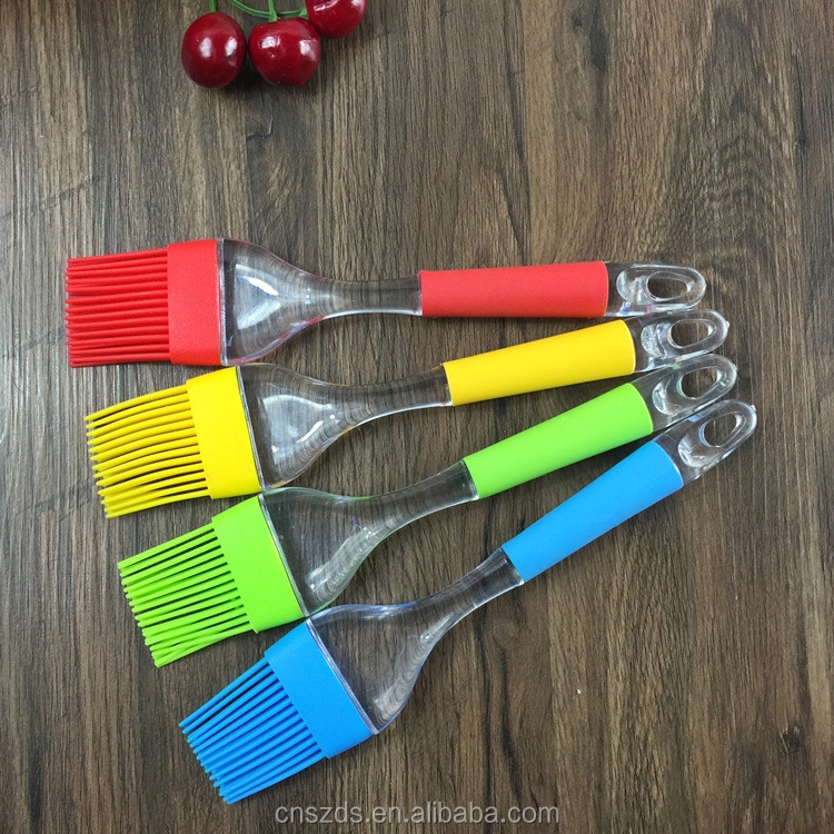Silicone rubber brush handle barbecue bread baking tools silicone oil brush