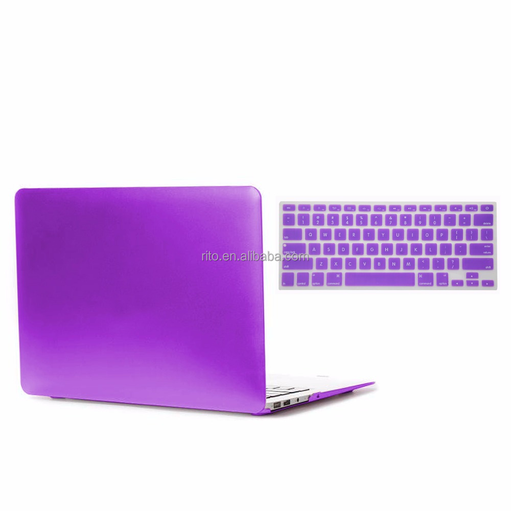 Laptop Hard Case for Mac Air 13 inch with Metal Color , Keyboard Cover For Apple Macbook