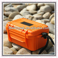 Hard plastic waterproof case for camera and electronic devices for kayak