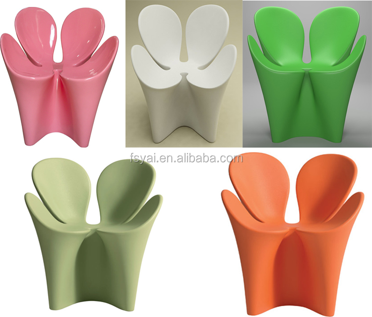 modern different colors dining leisure four leaf flower shaped tulip driade lover ron arad fiberglass Leisure Clover Chair
