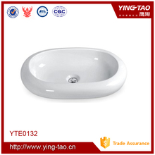 Traditional ceramic bathroom face basin