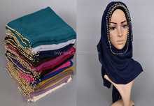 2016 cotton muslim scarf shawl islamic hijab,can choose colors size 180cm x 90cm GBS258