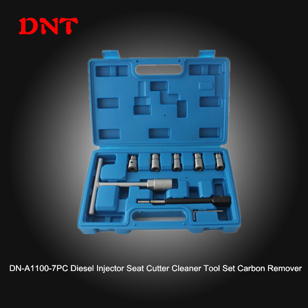 7PC Diesel Injector Seat Cutter Cleaner Tool Set Carbon Remover