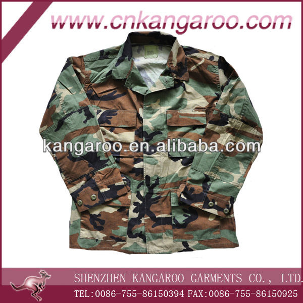 Traditional Woodland Camouflage Military BDU Jacket