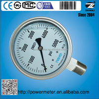 YBF-100 SS316 oil filled 4'' wika type pressure gauge with en 837-1 design