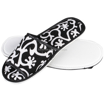 cheap wholesale disposable cotton cloth hotel slippers from china