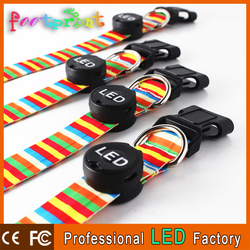 strong pull force promotional usb collar factory led colorful lighting pet/dog collar glow for safety