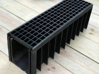 VHBEST A Series Tiled On Flange Sloped Channel Base Drain Stainless Cover